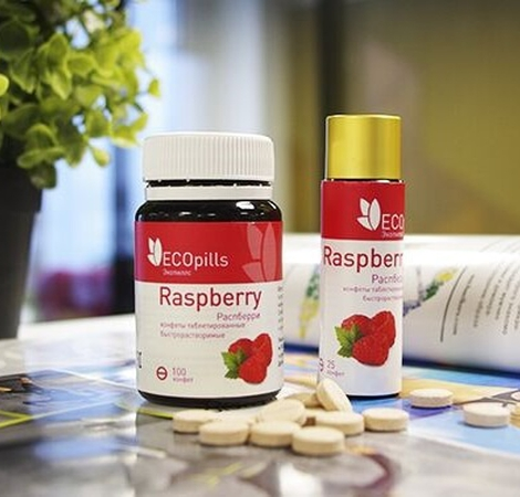 конфеты eco pills raspberry цена